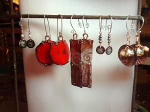 earrings made 01/06/2014