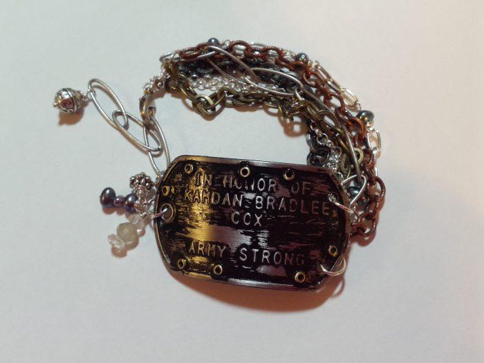 dog tag reversible bracelet
