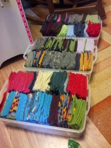 felted sweater squares