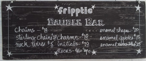 bauble bar sign