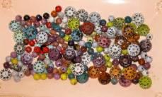 enameled beads