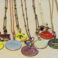 mix of enamel necklaces
