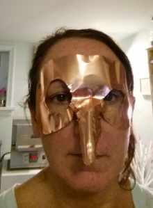 copper witch mask formed