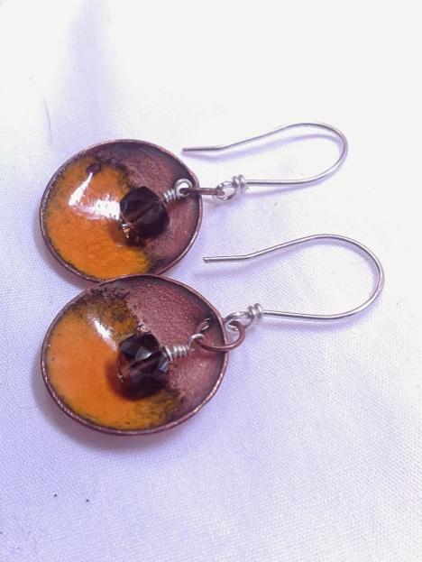orange and smokey quartz